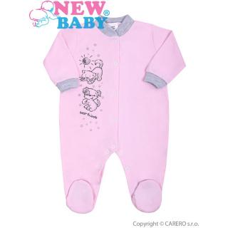 Kojenecký overal New Baby Kamarádi růžový Růžová 68 (4-6m)