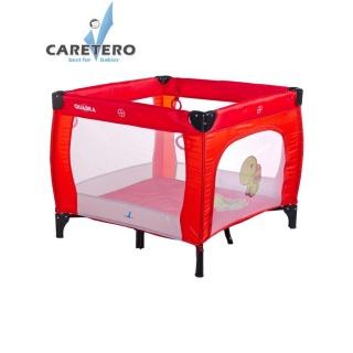 Dětská skládací ohrádka CARETERO Quadra red Červená