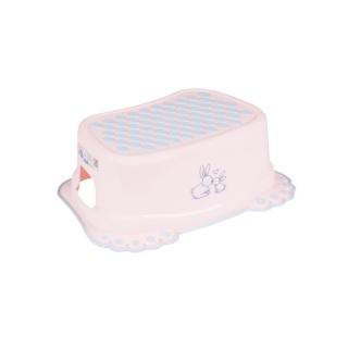 Dětské protiskluzové stupátko do koupelny Bunny růžové Růžová