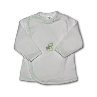 Kojenecká košilka s vyšívaným obrázkem New Baby zelená Zelená 56 (0-3m)