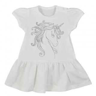 Kojenecké letní šaty Koala Unicorn Summer bílé Bílá 80 (9-12m)