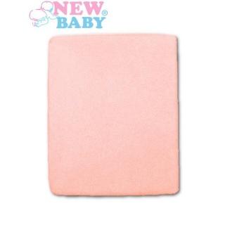 Nepromokavé prostěradlo New Baby 120x60 růžové Růžová