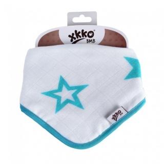 Kikko Bambusový dětský slintáček/šátek XKKO BMB - Turquoise Stars 1 ks