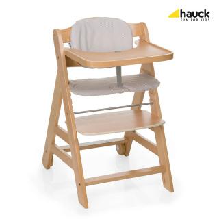 Hauck Beta+ 2018 jídelní židlička dřevěná