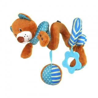 Hračka na postýlku Spirála Baby Mix medvídek modrý Modrá