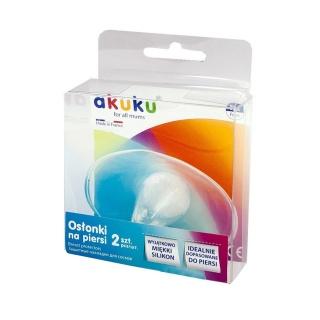 Chrániče prsních bradavek Akuku 2 ks Transparentní
