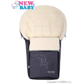 Luxusní fusák s ovčím rounem New Baby šedý Šedá