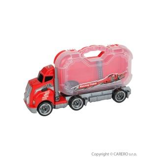 Dětské nákladní auto s nářadím Bayo 10ks Červená