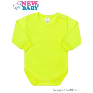 Kojenecké body s dlouhým rukávem New Baby neonové Zelená 50
