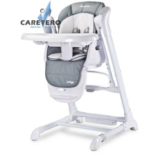 Dětská jídelní židlička 2v1 Caretero Indigo grey Šedá