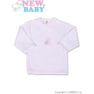 Kojenecká košilka s vyšívaným obrázkem New Baby růžová Růžová 50