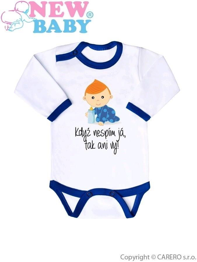 Body s potiskem New Baby 50% MAMINKA + 50% TATÍNEK - 100% JÁ modré Modrá 86  (12-18m) - Bejbyboom - svět dětí a maminek 40c62b1191