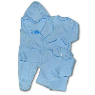 5-ti dílná soupravička New Baby modrá Modrá 62 (3-6m)