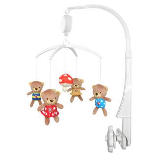 Kolotoč nad postýlku Baby Mix Medvídci s muchomůrkou Multicolor