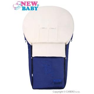 Luxusní fleecový fusák New Baby tmavě modrý Modrá