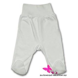 Kojenecké polodupačky New Baby bílé Bílá 86 (12-18m)