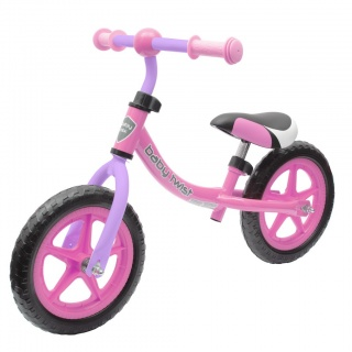Dětské odrážedlo kolo Baby Mix TWIST růžovo-fialové Růžová