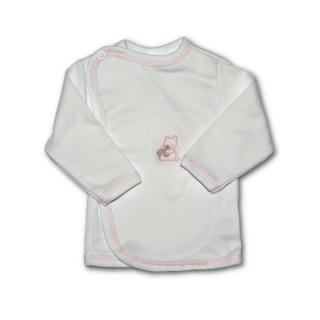 Kojenecká košilka s vyšívaným obrázkem New Baby růžová Růžová 68 (4-6m)