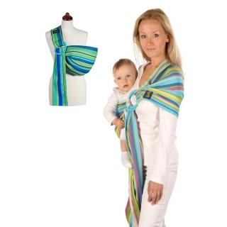 Šátek na nošení dětí Womar Hug Me Zelená
