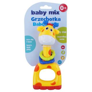 Dětské chrastítko Baby Mix žlutá žirafa Žlutá