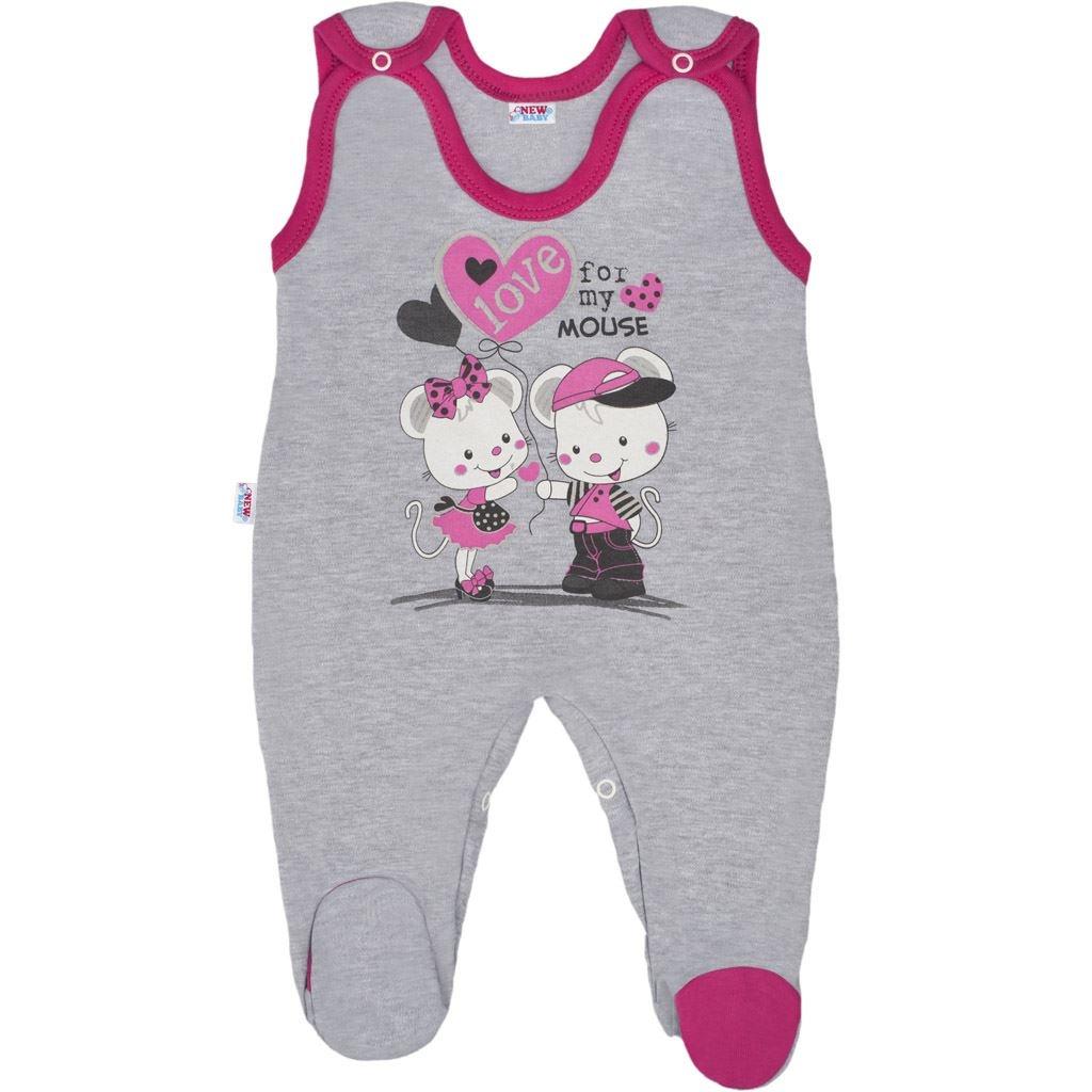 Dětské dupačky New Baby Love Mouse Růžová 50