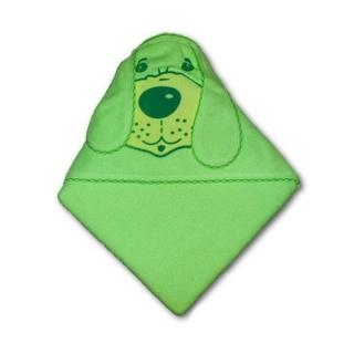 Dětská froté osuška 80x80 pejsek zelená Zelená
