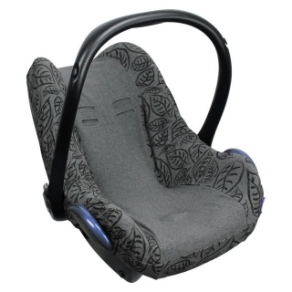 Potah na autosedačku Seat Cover 0+ Grey Leaves