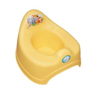 Hrající dětský nočník safari žlutý Žlutá