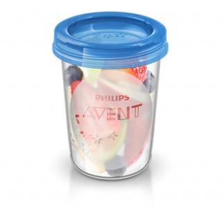AVENT VIA pohárky s víčkem 240ml - 5ks