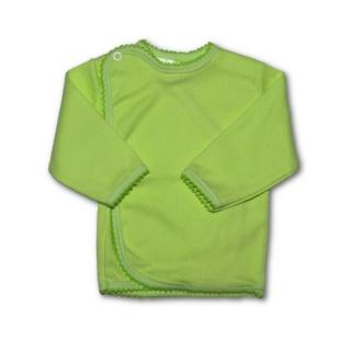 Kojenecká košilka proužkovaná New Baby zelená Zelená 68 (4-6m)
