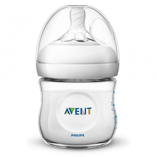 Kojenecká láhev Avent Natural transparentní 125 ml Transparentní