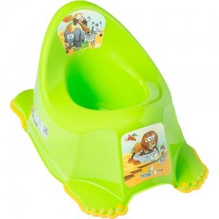 Dětský nočník protiskluzový Safari zelený Zelená