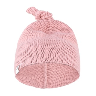 Čepice pletená Huggy Pink 100% bavlna 0-6m Petite&Mars