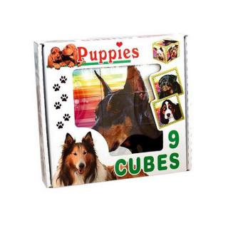 Skládací obrázkové kostky Puppies Dle obrázku