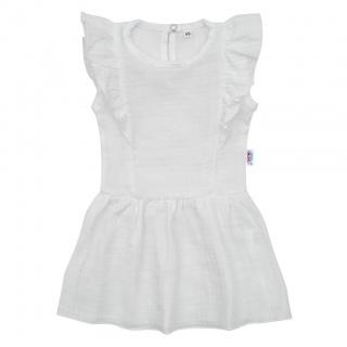 Kojenecké mušelínové šaty New Baby Summer Nature Collection bílé Bílá 80 (9-12m)