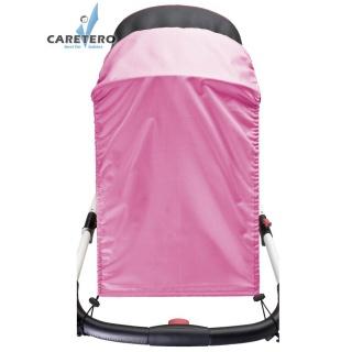 Sluneční clona na kočárek CARETERO pink Růžová