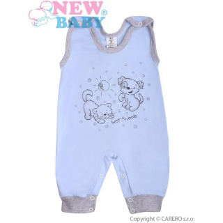 Kojenecké dupačky New Baby Kamarádi modré Modrá 86 (12-18m)