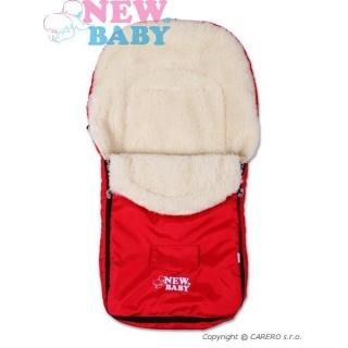 Zimní fusák New Baby Classic Wool red Červená