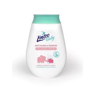 Dětské mycí mléko a šampón Linteo Baby s měsíčkem lékařským Bílá