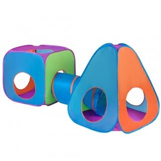 Dětský stan PlayTo 3v1 oranžovo-modrý Multicolor