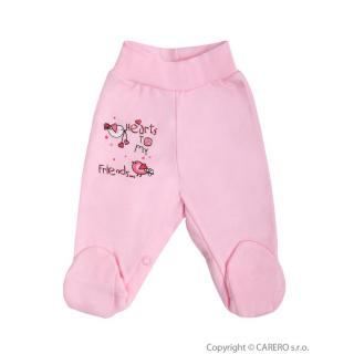 Kojenecké polodupačky Bobas Fashion Benjamin růžové Růžová 86 (12-18m)