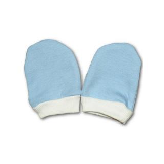 Rukavičky pro novorozence modré Modrá 56 (0-3m)