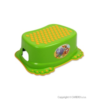 Dětské protiskluzové stupátko do koupelny zelené tlapky Zelená