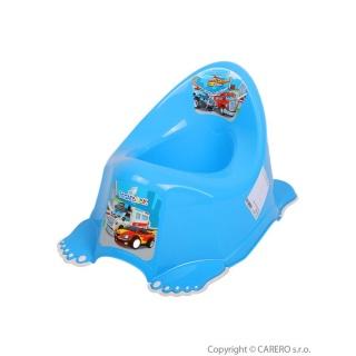 Dětský nočník protiskluzový Autíčka modrý Modrá