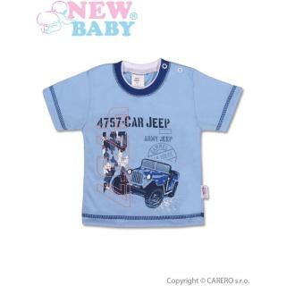 Dětské tričko s krátkým rukávem New Baby Army Jeep Modrá 140 (9-10 let)