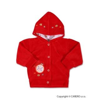 Semišková mikinka s kapucí Červená 74 (6-9m)