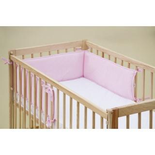 Mantinel do dětské postýlky - Scarlett froté - 180 x 20 cm - růžová