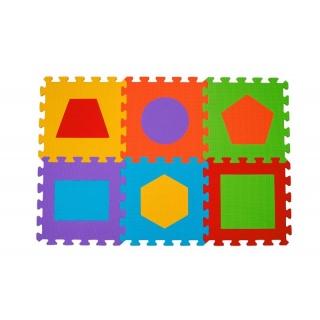 BABYONO Puzzle pěnové tvary 6 ks, 6 m+