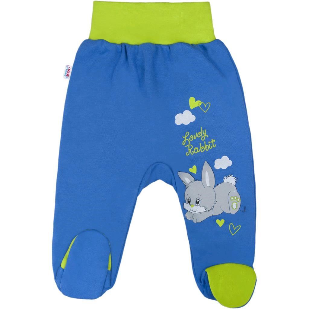 Dětské polodupačky New Baby Lovely Rabbit Modrá 50