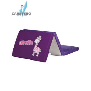 Skládací matrace do postýlky CARETERO Giraffe fialová Fialová